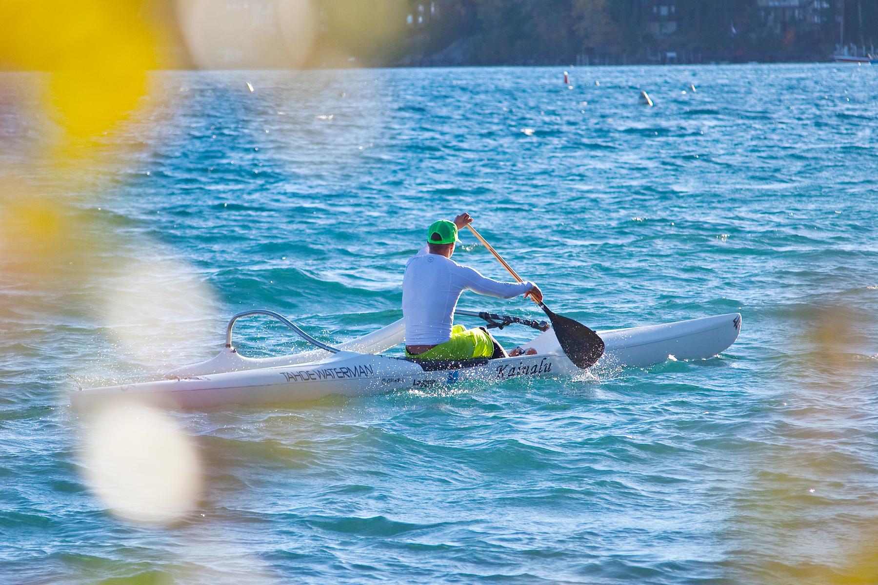 Fall paddling in Lake Tahoe